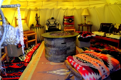 Inside the Tepee