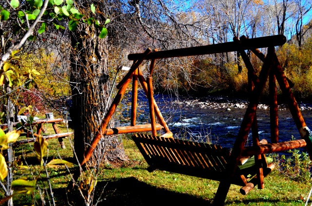 Relax by the Roaring Fork from your own Private Island